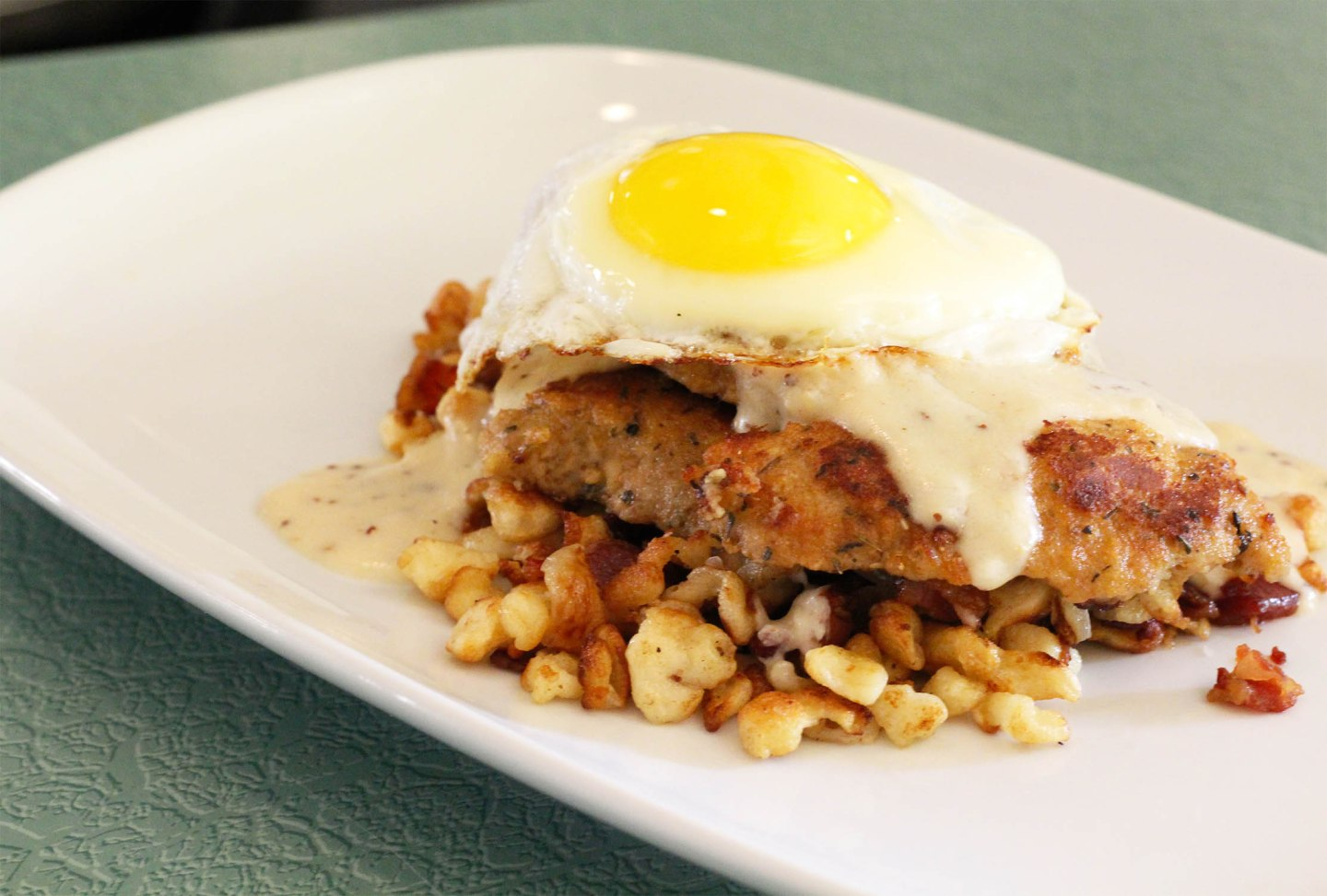 pork and spaetzle